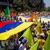 Oposición se moviliza para exigir respeto a la Constitución venezolana.