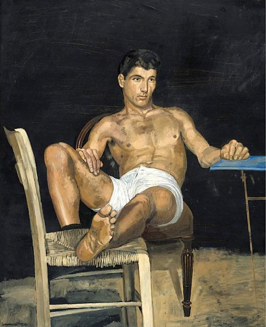 Yannis Tsarouchis (1910-1989), Détail de l' étude pour la vision de David, Fondation B&M Theocharakis, Athènes