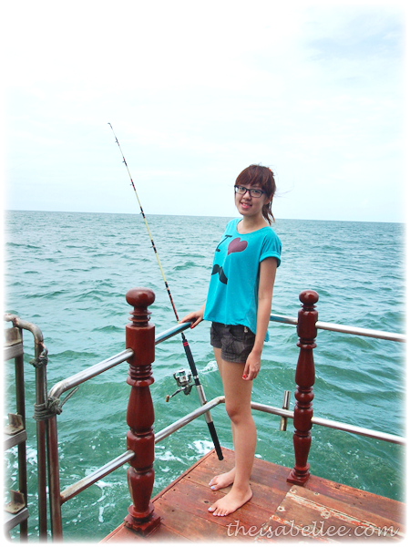 Fishing on a boat in Hua Hin