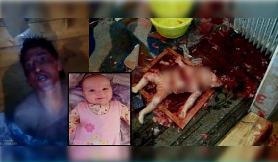 Tragis Sekali!! ((10 Gambar))Bapa Kerat & Makan Organ Bayi Sendiri...
