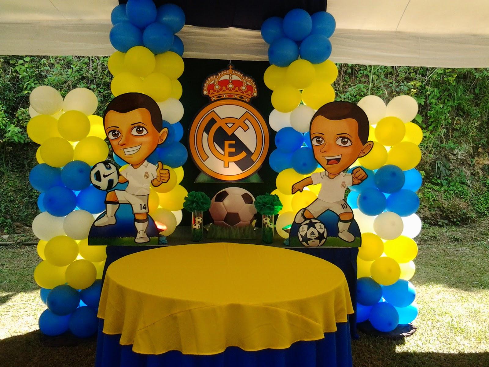 Decoracion Del Real Madrid Para Cumpleanos Solo Otra Idea De