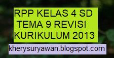 File Pendidikan Download RPP k13 Kelas 4 SD Tema 9 Revisi Terbaru