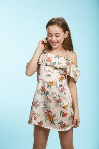 Faldas y vestidos para niñas primavera verano 2018 con volados | Moda primavera verano 2018 para niñas.