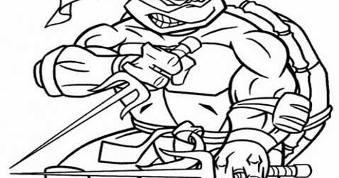 Kids Page Ninja Turtle Coloring Pages Printable Ninja