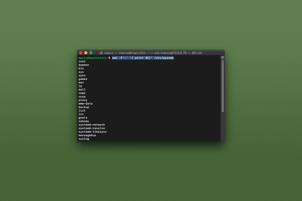 Come visualizzare l'elenco degli utenti su Raspberry Pi
