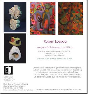 Invitación exposición Rubén Losada.