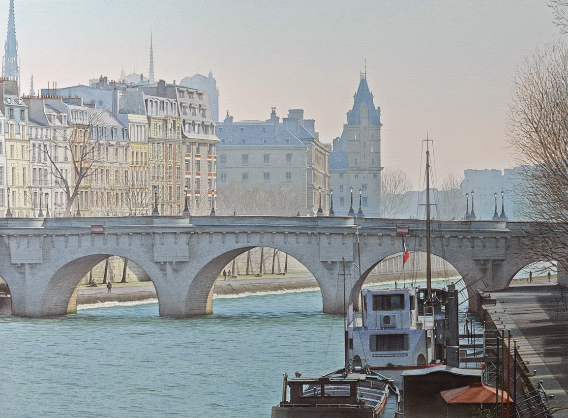 28-Thierry-Duval-Snippets-of Real-Life-in Watercolor-Paintings-www-designstack-co