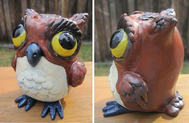 04-Brown-Owl-Deanna-Molinaro-aka-Chickenshoot-Odd-Clay-Sculptures-www-designstack-co