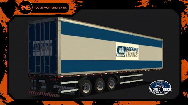 Baú Três eixos - Skins Wtds Baú Três eixos - Skins World Truck - Baú Três eixos de empresas