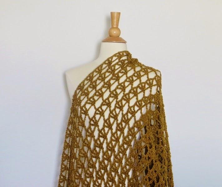 Crochet Dreamz: Aida Lacy Shawl, Free Crochet Pattern