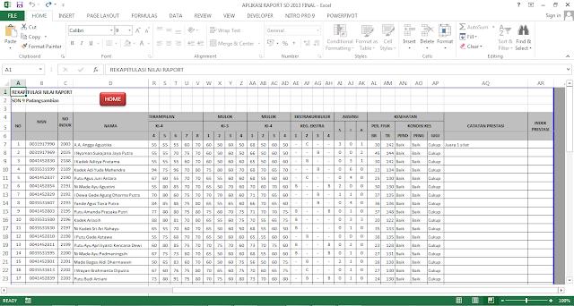 Aplikasi Pengolahan Nilai Raport Kurikulum  Aplikasi Pengolahan Nilai Raport Kurikulum 2013 Jenjang SD (Sekolah Dasar)  
