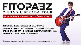 GIRA de conciertos de FITO PÁEZ en Colombia 2018