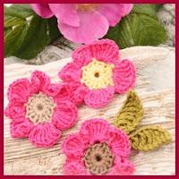 Rosa silvestre a crochet