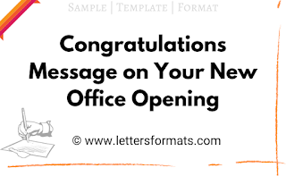 congratulations message for moving to new office