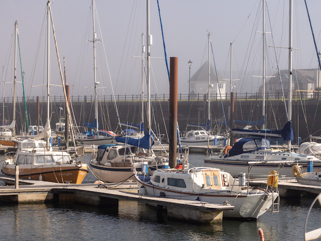 Photo of a misty start to the day at Maryport Marina this morning (Friday)