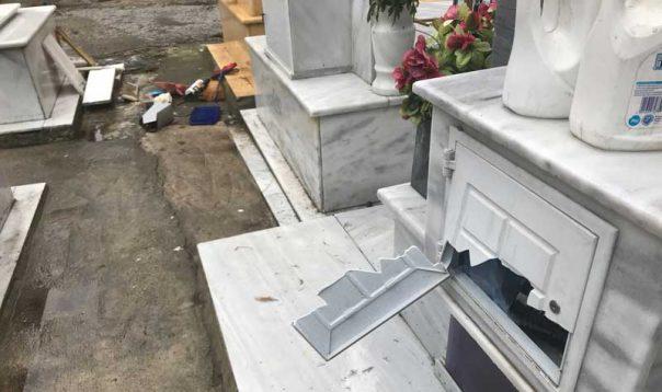 Bανδάλισαν δεκάδες τάφους στα δημοτικά κοιμητήρια στην Καβάλα