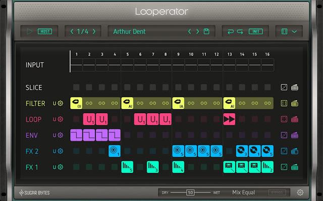Interface VST Looperator - Sugar Bytes