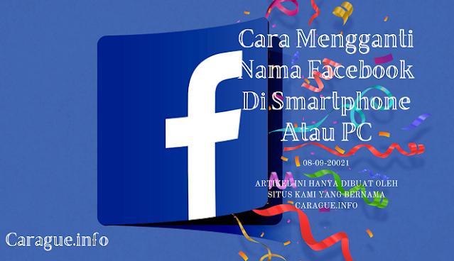 Cara Ganti Nama Facebook Biasa