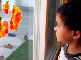 Admire your DIY pumpkin sun catchers