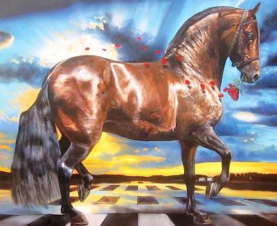 caballos-pintados-al-oleo-imagenes