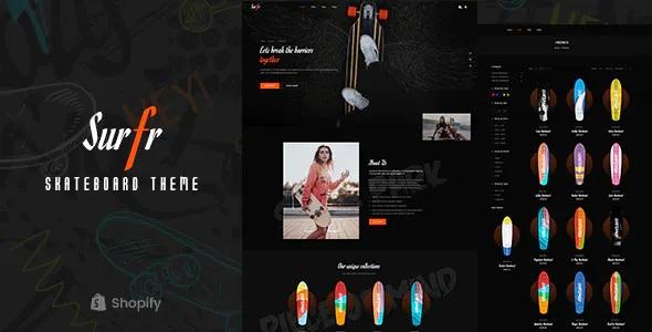Best Skateboard Single Product Shopify Theme