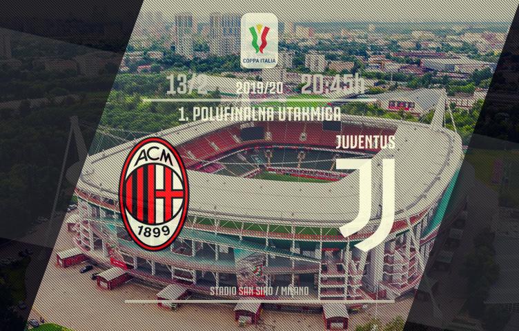 Coppa Italia 2019/20 / 1/2 finala / Milan - Juventus, četvrtak, 20:45h