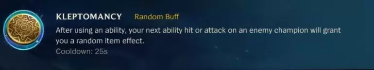 KLEPTOMANCY Random Buff
