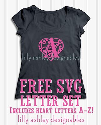 free svg letter set by lilly ashley designables