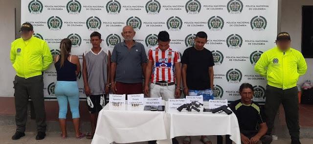 Seis delincuentes fueron privados de la libertad en Maicao