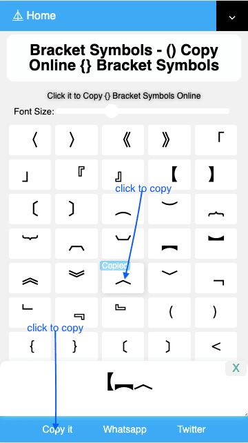 How to Copy〘〙Bracket Symbols?
