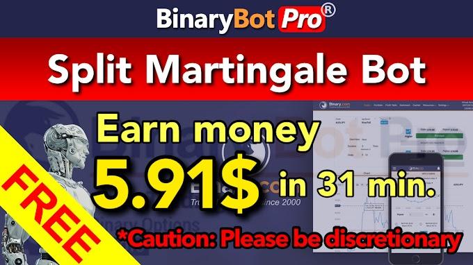 Split Martingale Bot | Binary Bot Pro