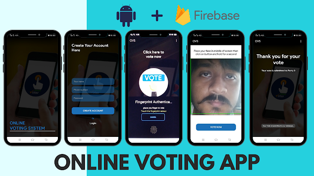 Android Online Voting App using Firebase | Android Studio | Java