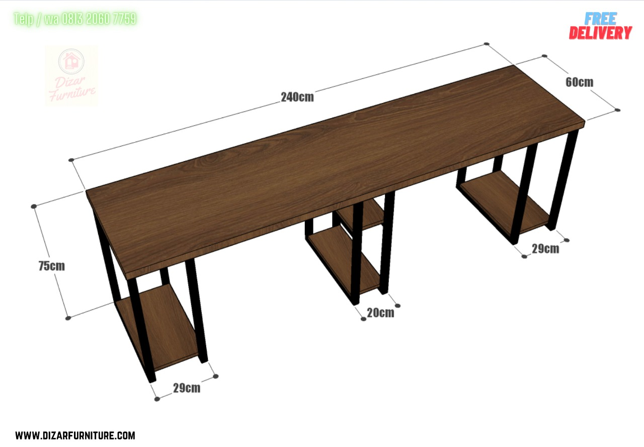 Meja komputer 2 orang
