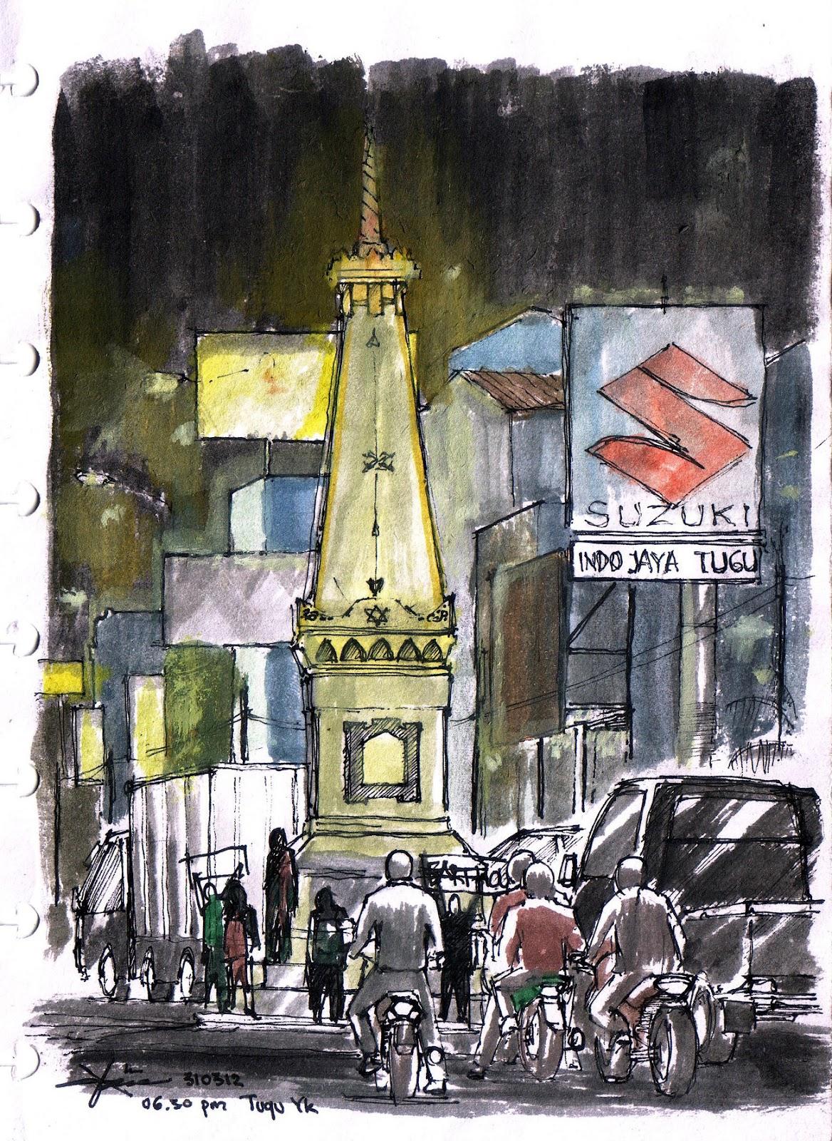 Kumpulan Sketsa Gambar Kota Seoul Sketsa Gambar