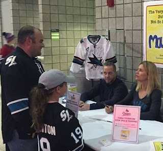 Joe Thornton met his wife Tabea Pfendsack