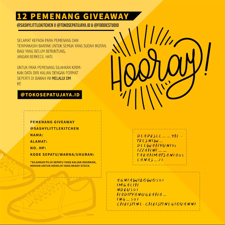 Pengumuman 12 Pemenang Giveaway Sepatu dari TokoSepatuJaya.ID