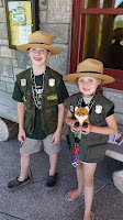 Our kids as Jr. Rangers at Acadia National Park