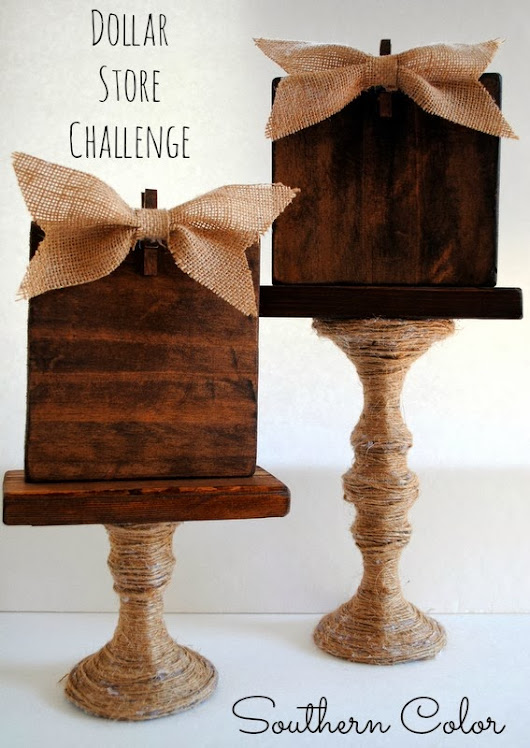 Dollar Store Challenge | Glass Candlestick
