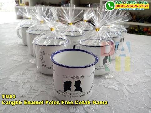 Jual Cangkir Enamel Polos Free Cetak Nama