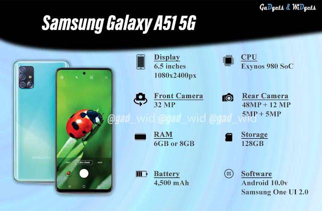 Samsung galaxy a51 5g key specs
