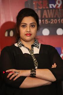 Tamil Actress Meena Latest Stills in Black Dress at TSR TV9 Awards Press Meet  0109.JPG