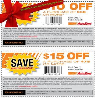 Free Printable AutoZone Coupons