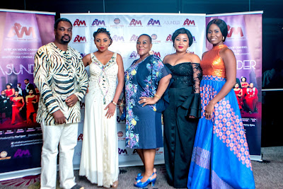 Nigerians excited as Asunder TV series kicks off + Photos from the premiere