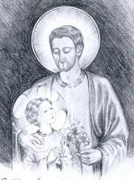 St Joseph / dessin de Joséphine