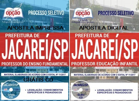 Apostila Prefeitura de Jacareí [2017] Professor Educação Infantil