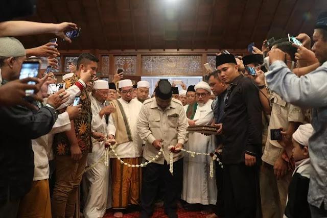 H-1 Pilpres, Prabowo Resmikan Masjid Nurul Wathan Hambalang Bogor