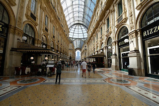 The beautiful Galleria Vittorio Emanuele II was built in the late 19th century