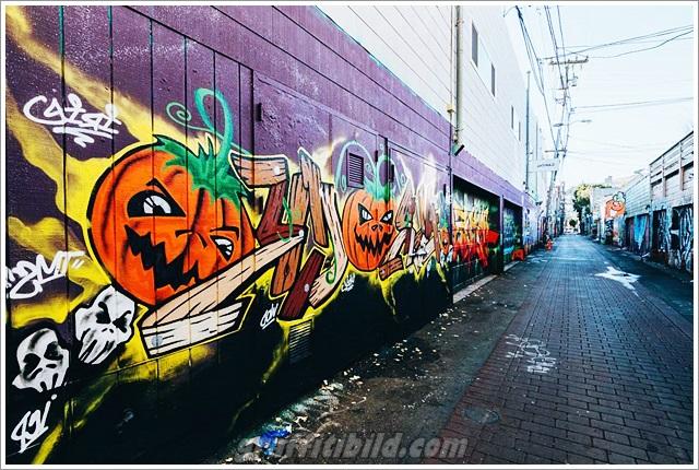Halloween, graffiti, street art, kürbis, halloween pumpkins