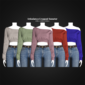 Unbalance Cropped Sweater