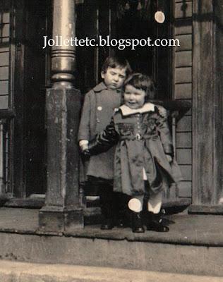 "John Jr and ""Bob"" in The Bronx 1921 https://jollettetc.blogspot.com"